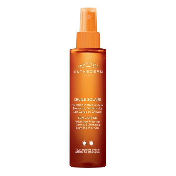 INSTITUT ESTHEDERM Paris Sun Care Oil Active Age Protection Tanning Body & Hair Normal to Strong Sun 150ml