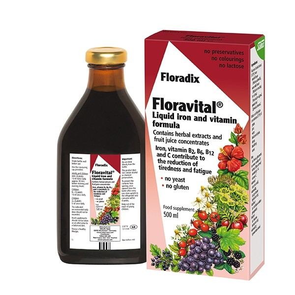 FLORADIX Liquid Floravital Iron and Vitamin Formula 500ml