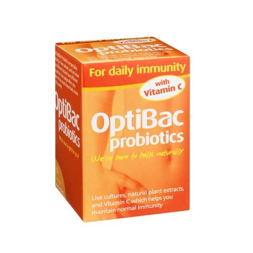 OPTIBAC Probiotics Daily Immunity Vitamin C 30 Capsules