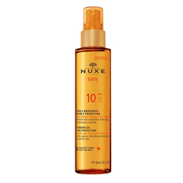 NUXE Tanning Oil For Face And Body 10 Spf UVA/UVB 150ml