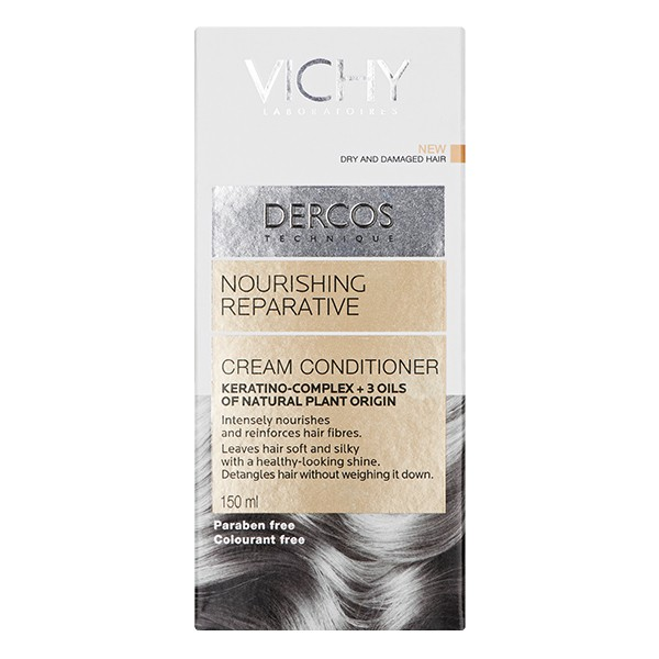 VICHY Dercos Nourishing Reparative Cream Conditioner Dry 150ml