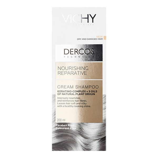 VICHY Dercos Nourishing Reparative Cream Shampoo Dry 200ml
